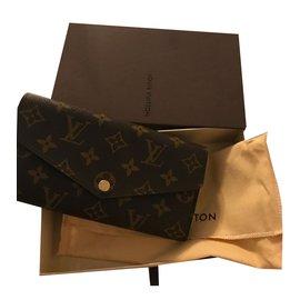 c7e06b258858 Louis Vuitton-Magnifique portefeuille LOUIS VUITTON-Marron foncé ...