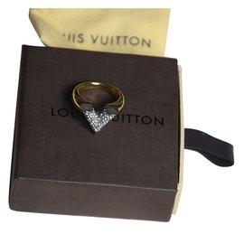 Louis Vuitton-Bague Essential V-Argenté,Doré