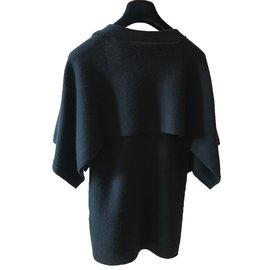 Chanel-Cardigan manches chauve souris-Noir