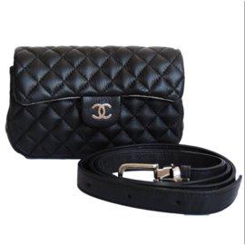 Chanel-Pochette Chanel / ceinture-Noir