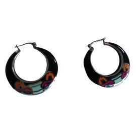 Kenzo-Boucles d'oreilles tigre Kenzo-Multicolore