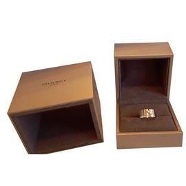 Chaumet-Bague Lien en or blanc 18K et pavage diamants-Argenté