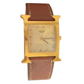 Hermès-H watch-Brown