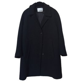 Yves Saint Laurent-Manteau noir-Noir