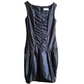 Yves Saint Laurent-Robe-Gris anthracite