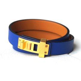 Hermès-Mini Dog Double Tour-Bleu