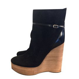 Chloé-CROSTA Ankle Boots-Black