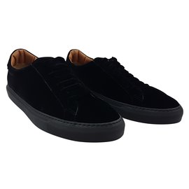 Givenchy-Givenchy Suede Sneakers Black-Black