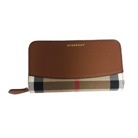 Burberry-Burberry House Check Leather Wallet-Brown
