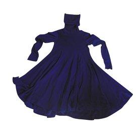 Issey Miyake-Robe-Bleu