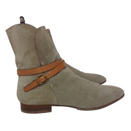 Chloé-Ankle Boots-Beige
