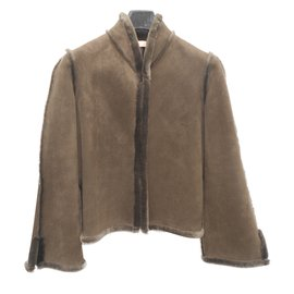 Chloé-Coats, Outerwear-Light brown