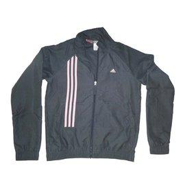 Adidas-Jogging survêtement-gris anthracite