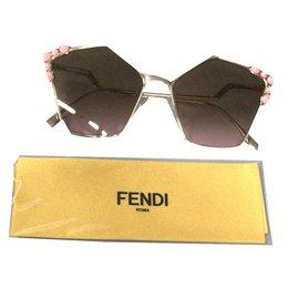 Fendi-lunettes can eye-Doré