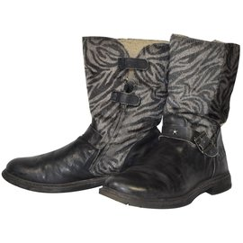 Ikks-Boots-Dark brown