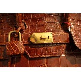 Hermès-Birkin Voyage croco HAC-Marron