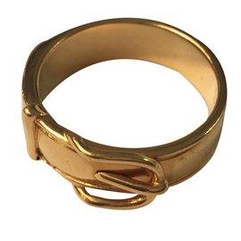 Hermès-Bague motif ceinture-Doré