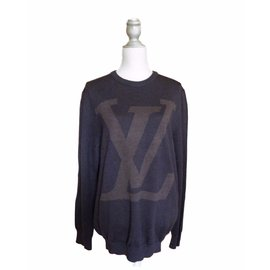 Louis Vuitton-pull logo-Marron