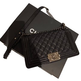 Chanel-Boy Bag-Black