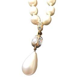 Chanel-Collier Perle-Beige