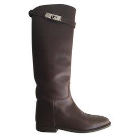Hermès-Bottes Jumping-Marron