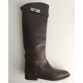 Hermès-Jumping Boots-Brown