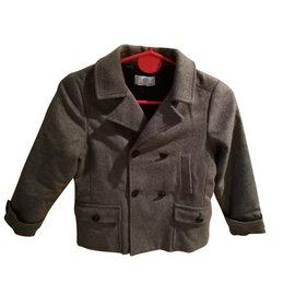 Autre Marque-YOUNG VERSACE Boy Coat-Grey