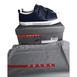 Prada-Sneakers-Navy blue