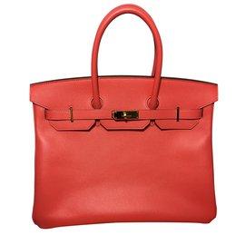 Hermès-Birkin 35 rosa Epsom Leder-Koralle
