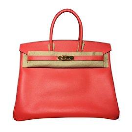 Hermès-Birkin 35 couro rosa epsom-Coral
