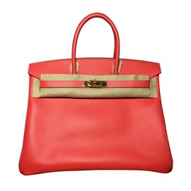 Hermès-Birkin 35 cuir epsom rose-Corail