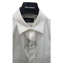Dsquared2-Chemise-Blanc