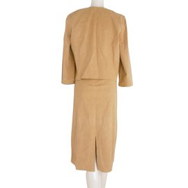 Chloé-Chloe  Embellished Dress and Jacket Suit-Caramel