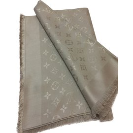 Louis Vuitton-Monogram stole-Beige