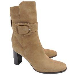 Hermès-Ankle boots-Beige