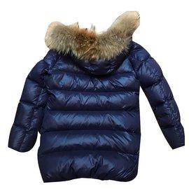 Eddie Pen-Girl Coats outerwear-Navy blue