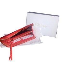 Chloé-Purses, wallets, cases-Coral