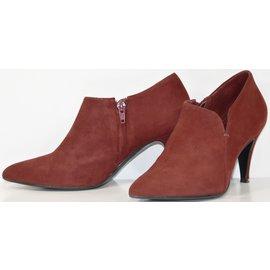 Bottines   low boots à talons LAURENCE DOLIGé POUR MINELLI daim noir 36 6555f71ad6e0