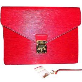 Louis Vuitton-Sénateur de 1987-Rouge