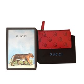 Gucci-Porte cartes Gucci ghost-Rouge