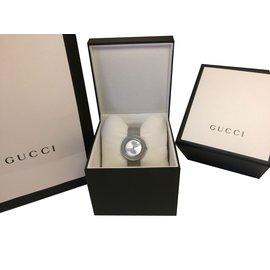 Gucci-Montre Gucci U-Play-Argenté