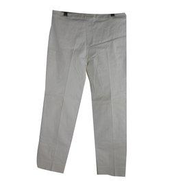 Yves Saint Laurent-Pantalons-Blanc