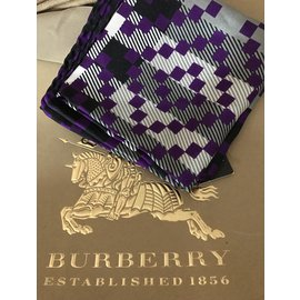Burberry-Silk scarves-Purple