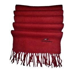 Thomas Burberry-Men Scarves-Dark red