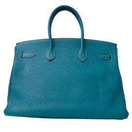 Hermès-Birkin 35 Clémence-Bleu