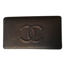 Chanel-Portefeuille mortdore-Brown,Copper