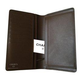 Chanel-Portefeuille mortdore-Marron,Cuivre