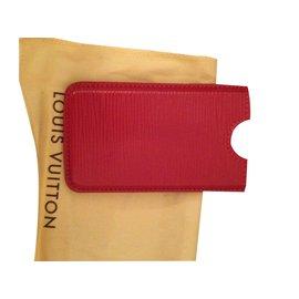 Louis Vuitton-Etui iphone LV cuir épi-Rouge