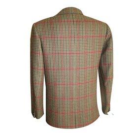 Hermès-Blazer - veste longue-Marron,Rouge,Vert