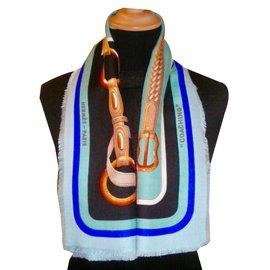 Hermès-COACHING (Cachemire&Soie)-Multiple colors